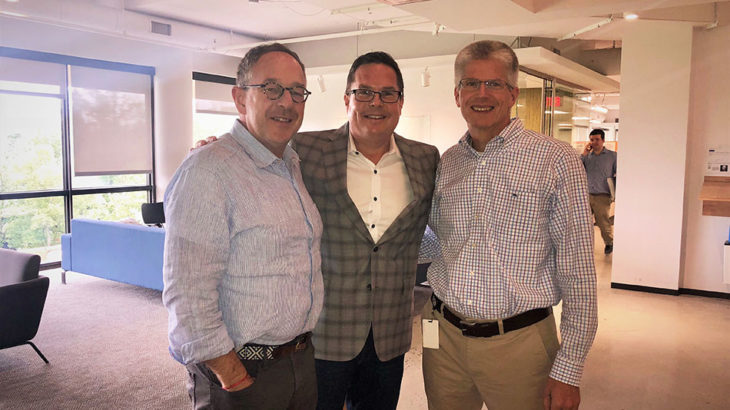 Pictured above is Stephen Langlois, Bob Oros and Ed O'Brien at eMoney's headquarters.